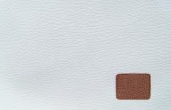 白色背景由白革制成 Texrured皮革 免版税库存照片