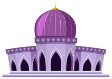 白色背景的一个美丽的清真寺 向量例证