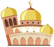 白色背景的一个美丽的清真寺 库存例证