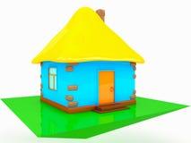 白色背景的五颜六色的房子 免版税库存照片