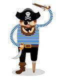 白色背景的传染媒介海盗 库存照片