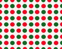 白色背景wth红色和绿色小点 免版税库存图片
