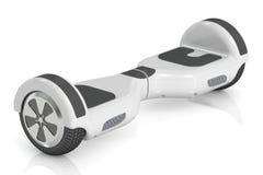白色自平衡的滑行车, 3D翻译 向量例证