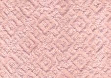 白色自然棉花毛巾背景 免版税库存照片