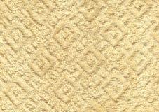 白色自然棉花毛巾背景 免版税图库摄影