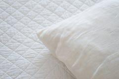 白色自然纺织品 免版税库存图片