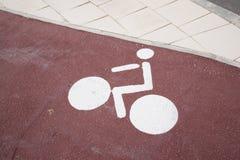 白色自行车标志 图库摄影