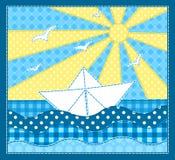 白色船。 免版税库存照片