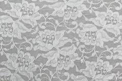 白色花卉鞋带 免版税图库摄影
