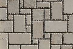 白色花岗岩石墙 免版税库存照片