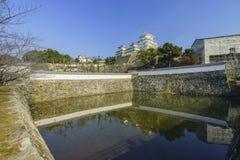 白色苍鹭城堡-姬路 库存照片