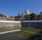 白色苍鹭城堡-姬路 库存图片