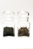 白色茶和gyokuro茶 免版税库存照片
