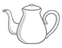 白色茶壶 向量例证