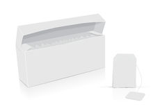 白色茶箱子 库存例证