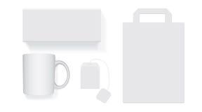 白色茶箱子 皇族释放例证