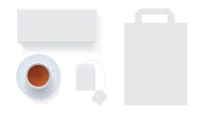 白色茶箱子 免版税库存照片