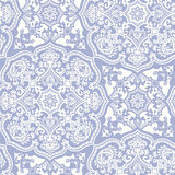 白色蓝色摩洛哥装饰品 库存图片