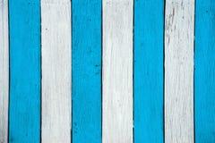 白色蓝色木纹理背景表面 免版税库存照片