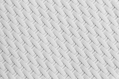 白色藤条纹理,细节手工造竹编织的纹理背景 图库摄影