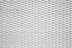 白色藤条织法样式纹理 免版税库存照片