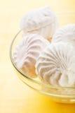 白色蛋白软糖点心 免版税库存照片