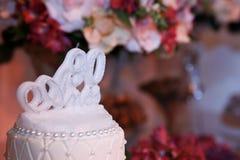 白色蜡烛第十九个生日 库存图片