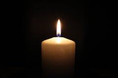 白色蜡烛 免版税库存图片
