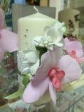 白色蜡蜡烛 库存图片