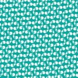 白色螺纹curlicues的无缝的样式 免版税库存照片