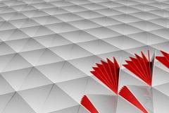 白色表面抽象3d翻译  图库摄影