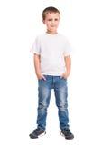 白色衬衣的小男孩 库存图片