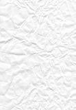 白色被弄皱的纸张 图库摄影