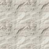 白色被弄皱的纸无缝的纹理  免版税库存照片