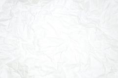 白色被弄皱的纸 免版税库存图片