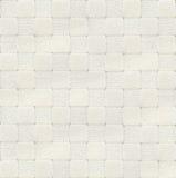 白色被检查的地毯纹理,顶视图 免版税图库摄影