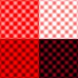 白色被检查的栅格圆的迷离-红色&黑& 库存照片
