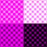 白色被检查的栅格圆的迷离-紫色&黑& 免版税库存照片