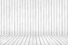 白色被洗涤的地板和墙壁木头样式 背景棕色树荫纹理木头 免版税图库摄影