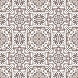 白色被突出的被排列的正方形设计无缝的样式背景例证 库存照片