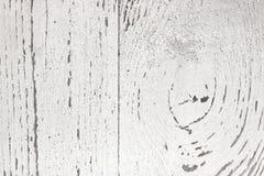 白色被绘的木特写镜头纹理  木背景 免版税库存照片