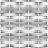 白色被编织的藤条 免版税库存照片