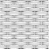 白色被编织的藤条 免版税库存图片