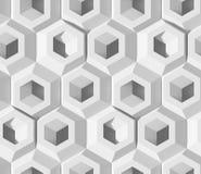 白色被遮蔽的抽象几何样式 Origami纸样式 3D翻译背景 向量例证
