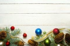 白色被风化的圣诞节 库存照片