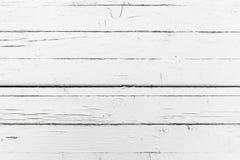 白色被绘的木桌表面背景 免版税库存照片