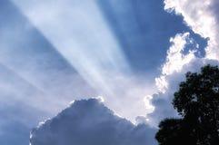 白色覆盖阳光射线越南 免版税图库摄影