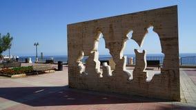 白色遮蔽雕象,斯利马,马耳他 库存图片