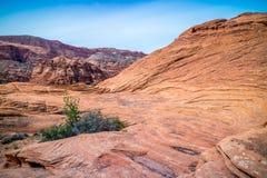 白色那瓦伙族人砂岩在雪峡谷国家公园,犹他 图库摄影