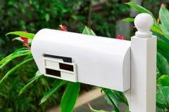 白色邮箱 免版税图库摄影